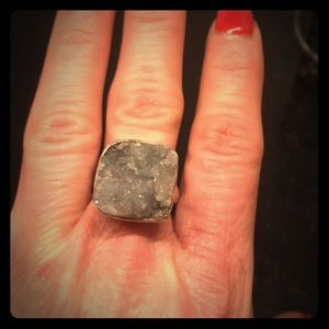 Fun Grey Druzy ring